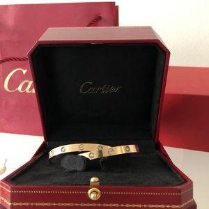 Cartier LOVE diamond bracelet size 17